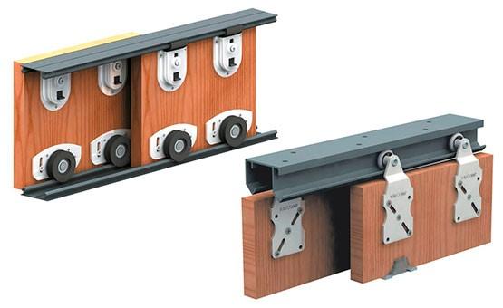 Система с нижними и верхними направляющими для раздвижных перегородок
